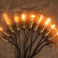 Gros-Vintage Edison Ampoules E27 Incandescent Ampoules ST64 G80 Filament Bulb Squirrel-cage carbone Retro Edison Light For Pendant Lamp