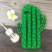 Wholesale Cool Apple Skins - 2016 Fashion 3D cartoon fruit summer cool clouds rainbow cactus green leaf soft silicone cell phone case cover skin For Iphone