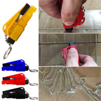 Wholesale Red Seating - Mini Emergency Safety Hammer Auto Car Window Glass Breaker Seat Belt Cutter Rescue Hammer Car Life-saving Escape Tool
