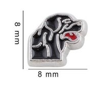 Wholesale Dog Color Slide Charm - 20PCS lot Black Color Dog Floating Locket Charms Fit For Glass Memory Locket For Jewelry Making