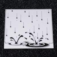 Wholesale paper crafts templates - Raining Template DIY Metal Cutting Dies Stencil Scrapbook Card Album Paper Embossing Crafts