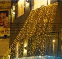 şelale perdesi açtı toptan satış-4 mx 4 m LED Noel Işıkları Dize 512 LED Şelale Perde Işık Parti Peri Düğün Yard Noel otel Tatil Dekorasyon Lambası