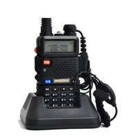 1pc Baofeng uv 5r Walkie Talkie 5W double bande radio portable UHFVHF UV 5R 136-174MHz400-520MHz CB radio A0850A baofeng uv 5r