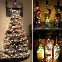 batteriebetriebene im freien weihnachtsbäume großhandel-Großhandelsweihnachtsbaumlichtfeiertagshochzeit Dekoration 2/3/5 / 10M wasserdichte batteriebetriebene LED-Schnur-Lichter im Freien