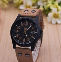 Wholesale Boys Black Dress Belt - The Latest Soki Military Amy Sport Outdoor Genuine Leather Cavas Belt Dress Quartz Wristwatches Watch for Men Boy