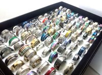 Wholesale Wholesle Gifts - 100pcs lot Top Styles Mix men's women's fashion stainless steel rings NEW BRAND wedding band rings Wholesle Fashion Jewelry lots