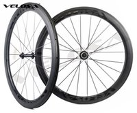 Wholesale Road Bike Race Wheels - Velosa Race 50 black series road bike carbon wheelset,700C road bike wheel,50mm clincher tubular,Ceramic bearings, super light