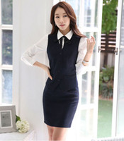 Wholesale Skinny Skirts - Business Vest Waistcoat suit with Skirt formal office ladies elegant work wear