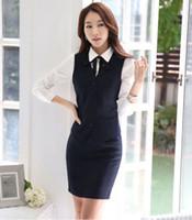 Wholesale Skirt Suit Ladies Formal - Business Vest Waistcoat suit with Skirt formal office ladies elegant work wear