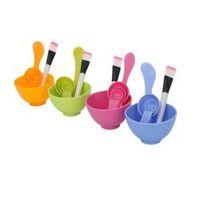 Wholesale Homemade Masks - 1Set New Homemade 6in1 Makeup Beauty DIY Facial Face Mask Bowl Brush Spoon Stick Tool Set#EC004