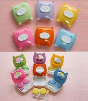 Wholesale Pig Contact Lens Case - [MOQ 18 Pcs] Contact Lens Case Set Cute Pig Design Soaking Box 6 Colors by China Post Airmail