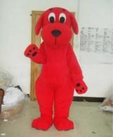 mascote real venda por atacado-Venda quente 100% real imagens Red Dog Clifford traje da mascote Apropriado para os diferentes festivais EMS frete grátis diferente