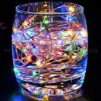 Wholesale Green Decorative Beads - NEW 9 Color 5M 50leds Fairy Christmas String Lights Lamp Battery Operated LED Decorative lighting string Beads DC Holiday Lighting MYY