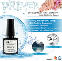Wholesale Wholesale Cleansing Supplies - Wholesale- CANNI Factory Supply 7.3ml No need lamp To Cure Long Lasting UV Gel Nail Primer No Cleaning Non Cleansing Soak Off UV Nail Gel