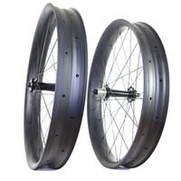 Wholesale Carbon Rims Sale - hot sale 26er fatbike carbon wheels tubeless fat bike carbon rims 100mm width 25mm depth