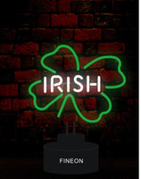 Wholesale Irish Neon Bar Signs - New irish Handicrafted Real Glass Tube Neon Table Light Beer Lager Bar Pub Table Sign Neon Light Sculpture Table Lamp