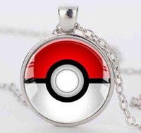 Wholesale Pikachu Jewelry - 3 Colour Vintage Anime Pikachu Glass Dome Charms Choker Statement Collar Necklaces&Pendants For Women Gift DIY Jewelry Accessories HOT Q135