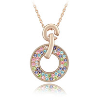 Wholesale swarovski necklace designs - high quality famous brands design jewelry wholesale for women made with Swarovski elements crystal collar mujer moda 2017