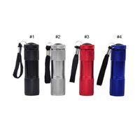 mini levou lanterna cor venda por atacado-Liga de alumínio Portátil UV Lanterna Luz Violeta 9 LED 30LM Tocha Lâmpada de Luz Mini Lanterna 4 Cor 2503029