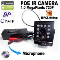 Cámara Ocultada 720P Audio Mini Ir Cámara Poe Ip Más Pequeña Visión Nocturna Mini Ip Cámara Covert Red Onvif 940nm Ir Mini Cámara Ip Ir Cam Ir