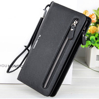 Wholesale Female Photos - New Designer Leather Wallets Women Red Zipper Long Coin Purses Money Bags Credit Card Holders Clutch Phone Wallets Female