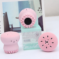 Wholesale Women Face Massage - HF002 Wash Brushes Super Little Cute Octopus Face Cleaner Massage Soft Silicone Facial Brush Face Cleansers Blackhead Spot Acne Amazon sale