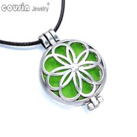 Pendant Necklaces black magic flower - New Arrivals styles Perfume magic Pendant Necklaces Aromatherapy Essential Oil Diffuser Necklace pendant DZ0149