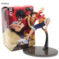 equipo de escalas al por mayor-One Piece 2th Gear Monkey D Luffy 1/8 escala figura pintada PVC Figura de colección de juguete 19cm KT4053
