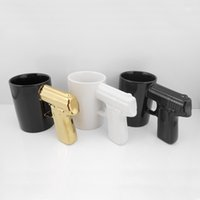 Wholesale Mugs Pistol Handle - Wholesale- New Design Ceramic Handle Coffee Mug Glassware Drinkware Pistol Handle Cups HG99