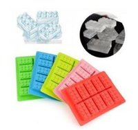 Wholesale Candy Tubs - Building Bricks Silicone Ice Cube Tray Candy Chocolate Cake Molds Bar Party Frozen Drink for Lego Lovers Kitchen Gadgets Mold