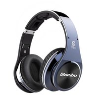 Wholesale Bluedio R Nfc - Bluedio R+ Legend Version Bluetooth Headphones Supports NFC Bluetooth4.0 Deep bass wireless Headphones over the ear Headphones
