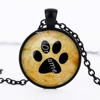 Wholesale cheap cute dogs - lovely cute bear dog paw pendant necklace wholesale cheap fashion jewelry
