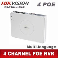 Wholesale Digital Video Recorder Ch - Hikvision NVR POE 4CH HD mini IP 1080P CCTV digital network video recorder ds-7104n-sn p 4 CH Channel