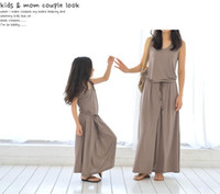 Wholesale Children S Summer Clothes Sale - Hot sale mother and daughter family matching outfit summer fashion long girls Modal maxi elegant dress child clothes teenager