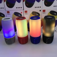 Wholesale Seals Mini Lights - Bluetooth Speakers Pluse 3 Colorful Lights Wireless Portables Speaker USB Mini Bluetooth Speaker Free Shipping DHL
