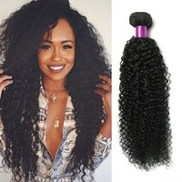 Wholesale Mongolian Kinky Curly Hair 4pcs - 4PCS 7A Brazilian Kinky Curly Human Hair Weaves Brazilain Virgin Hair Weave Bundles Peruvian Brazilian Kinky Curly Virgin Hair Curly