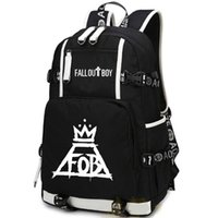 Wholesale Character Patrick - Fall out boy backpack Patrick stump day pack Cool rock band school bag Music rucksack Sport schoolbag Outdoor daypack