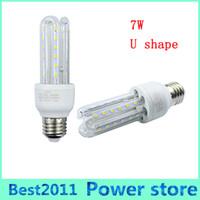 Wholesale Candle Shape Chandelier - E27 E14 U shaped Corn LED bulb Light Lamp SMD 2835 7W 85-265V LED Chandelier Candle Lighting Lampara Bombilla