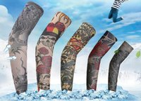 Wholesale Tattoos Sleeves Patterns - Tattoo sleeves Outdoor cycling arm simulation set Fishing prevented bask in cuff multi patterns 43-45cm free shipping #28