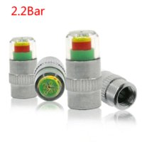 Wholesale fiber sensors - 4PCS Universal Visiable 32 Psi 2.2 Bar Air Warning Alert Tire Valve Pressure Sensor Monitor Light Cap Indicator For Auto Car New