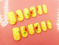 Wholesale Colored Tips Acrylic Nails - Wholesale- HOT cheap Nail Tips Metallic False Nails Full Cover False Nails UV Glue Fake Manicure Set Colored Acrylic Nail Art Tips Beauty