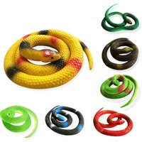 Wholesale Halloween Rubber Snakes - Novelty Halloween Gift Tricky Funny Spoof Toys Simulation Soft Scary Fake Snake Horror Toy For Party Event