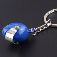 Wholesale Motorcycle Cool Keychains - Hot Pocket 3D Racing Motorcycle Helmet Keychain Key Ring Gift Moto Accessories Collect Cool Sports Promotion Gift Keychain2016