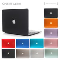 Wholesale Purple Macbook Pro 13 - 2017 Brand NEW Transparent Crystal Case For Apple Macbook Air Pro Retina 11 12 13 15 Laptop Cover Bag For Mac book 13.3 inch