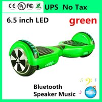 Wholesale Led Skateboard Wheels - NO TAX LED Scooter Electric Balance Scooter Hoverboard Bluetooth Music Speaker Skateboard Smart Self Balancing Wheel 6.5 inch Two Wheels