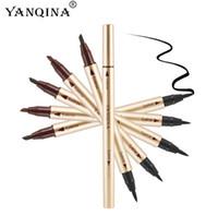 Wholesale New Sale YANQINA Long lasting Makeup waterproof Eyeliner Eyebrow pencil Precision Double End Liquid Eye liner DHL Free