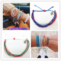 Wholesale Multi Cord Charm Bracelet - 2016 Unisex multi layer bracelet Ethnic lucky colorful cord bracelets Tibetan hand-woven rope bracelets free shipping