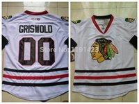Wholesale Vintage Road - Wholesale Men's Chicago Blackhawks Hockey Jerseys #00 Clark Griswold Jersey Road White Throwback Vintage CCM Stitched Jerseys