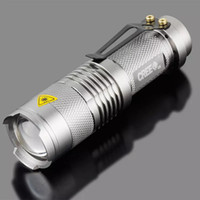 venta al por mayor mini LED Flashlight CREE Q5 Zoomable impermeable 7W 3 modos linterna deslumbramiento antorcha ajustable Focus Flash luz
