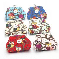 Wholesale wholesale snap coin purse - 4 Colors 18MM Owl Snap Jewelry Coin Purses Small Wallets Mini Pouch Kids Girl Women's Money Bags For Gift 2074